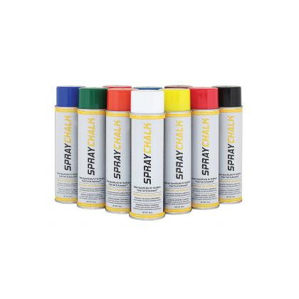 Image of a group of DuraStripe 18oz Spray Chalk Aerosol Cans