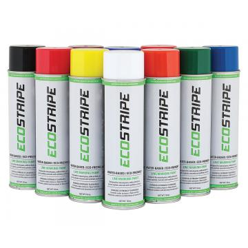 Image showing various colors of 18oz EcoStripe Aerosol Paint